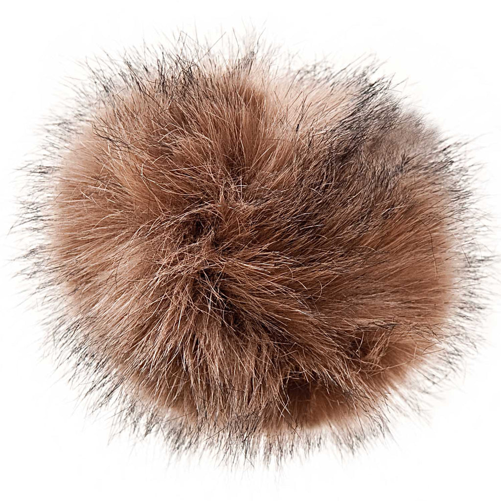 Fake Fur Pompom LARGE 13cm Pebble