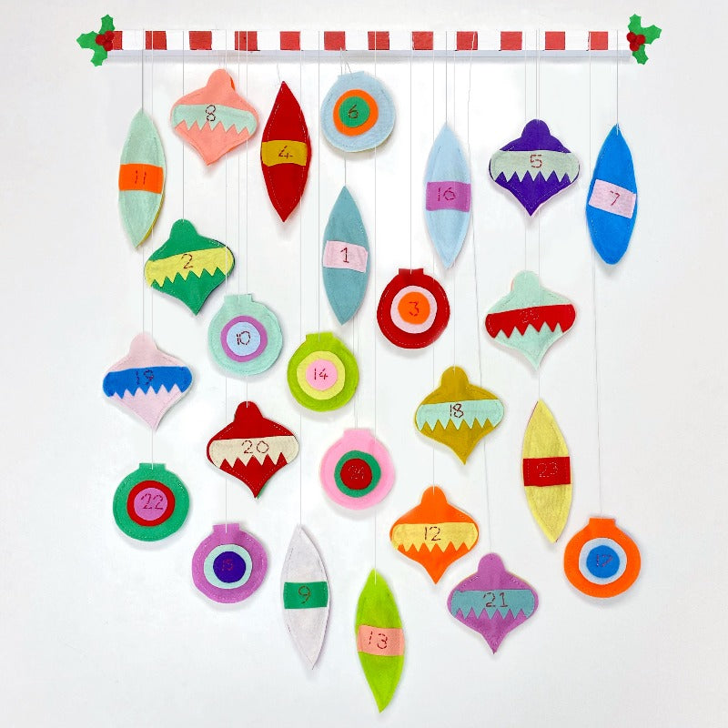 Felt Bauble Advent Calendar Kit