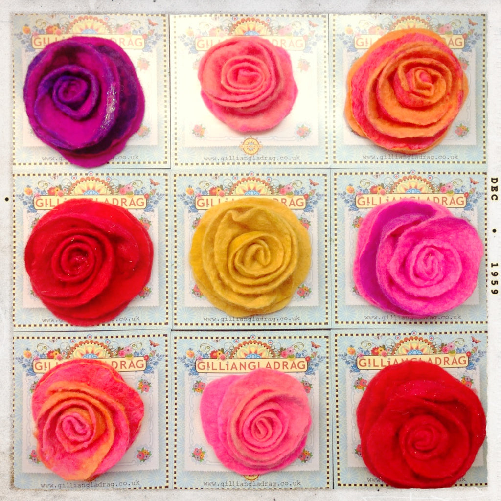 Online Felt Rose Course