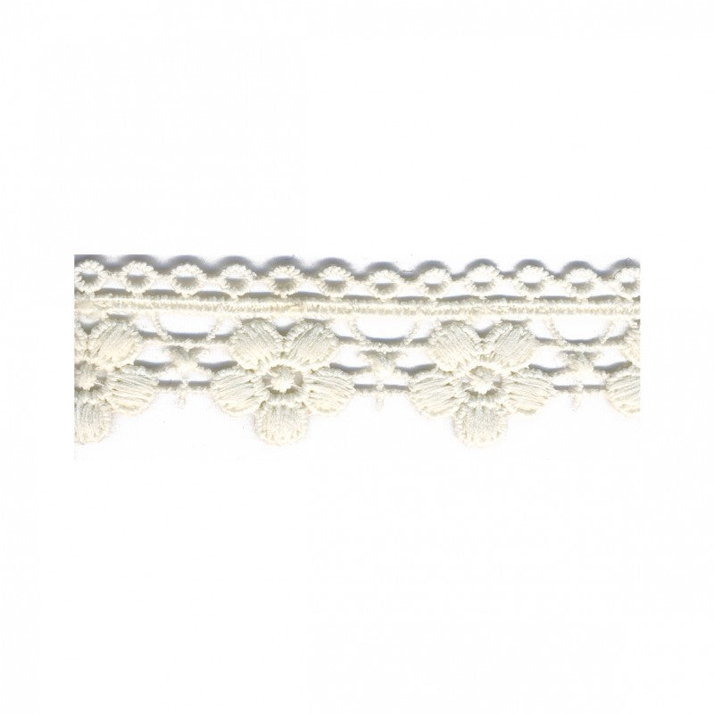 Flower Chain Lace Trim Ecru