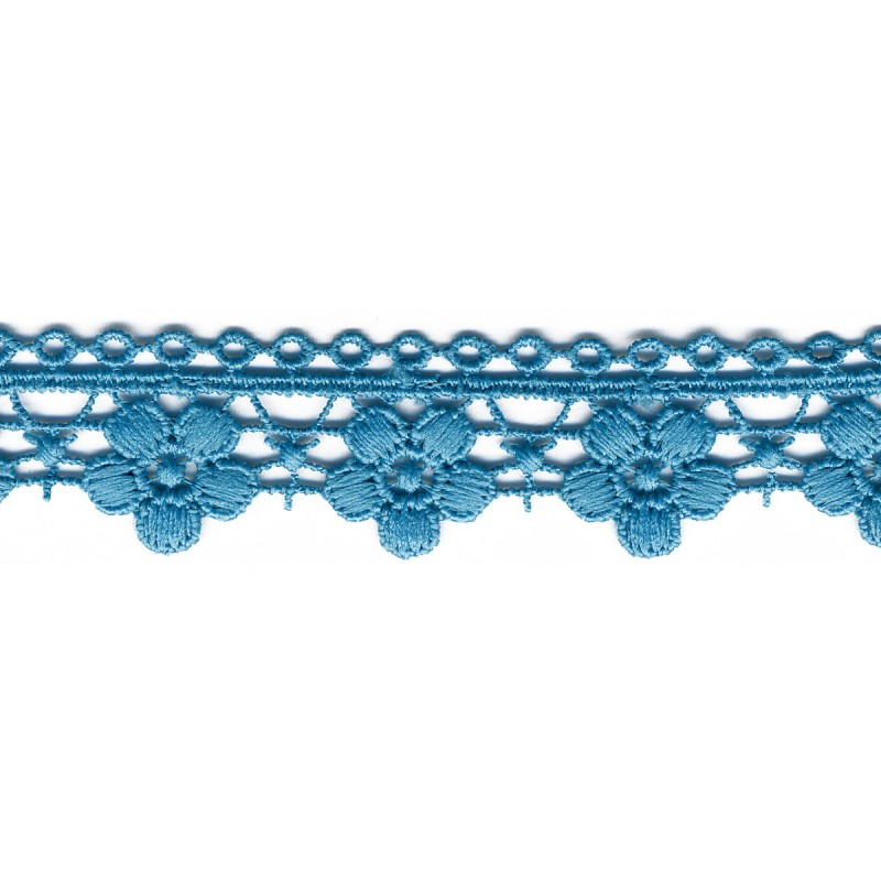 Flower Chain Lace Trim Turquoise