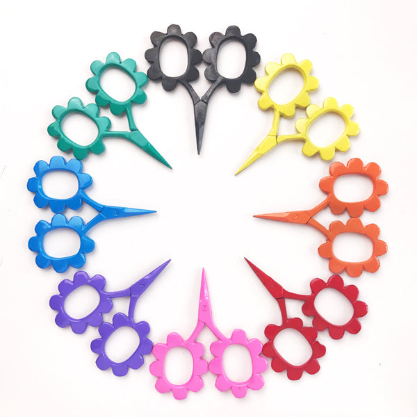Flower Power Scissors Red