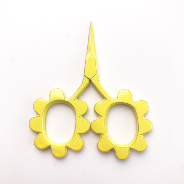 Flower Power Scissors Yellow