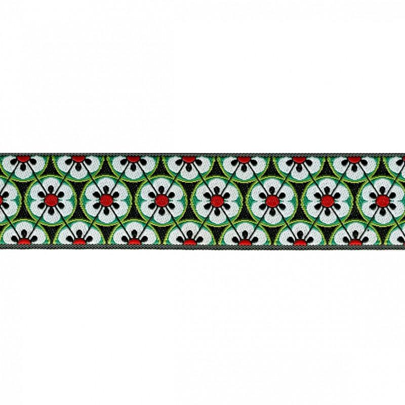 Flower Tiles 25mm 15 Green