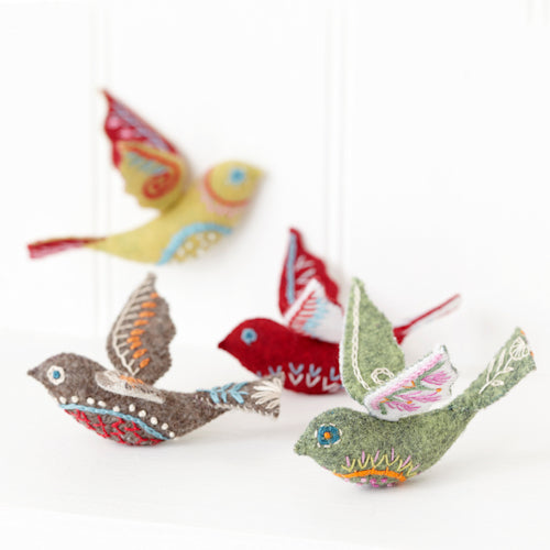 Folk Bird Embroidery Kit