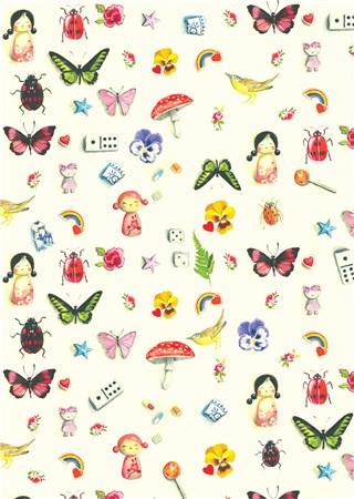 Fuzzsquad Bits & Pieces Butterfly Gift Wrap