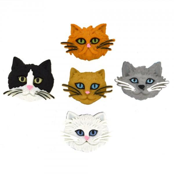 Fuzzy Felines Dress it Up Button Pack