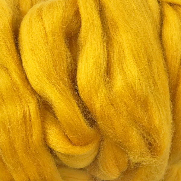 Gold Merino wool tops for felting & giant knitting