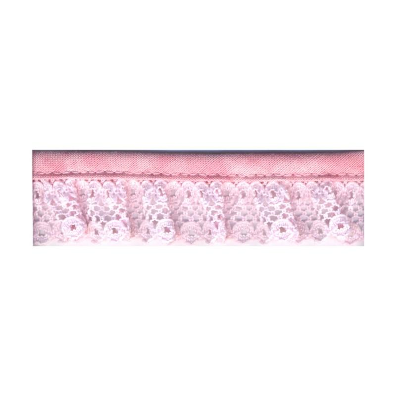 Gathered Lace 20mm 74 Pale Pink