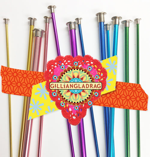 FULL SET Gilliangladrag Metal Candy Coloured Knitting Needles