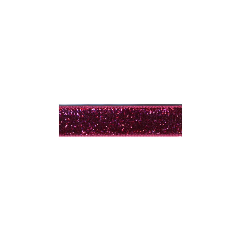 Glitter Lurex Tape Ribbon - Fuschia 78 10mm
