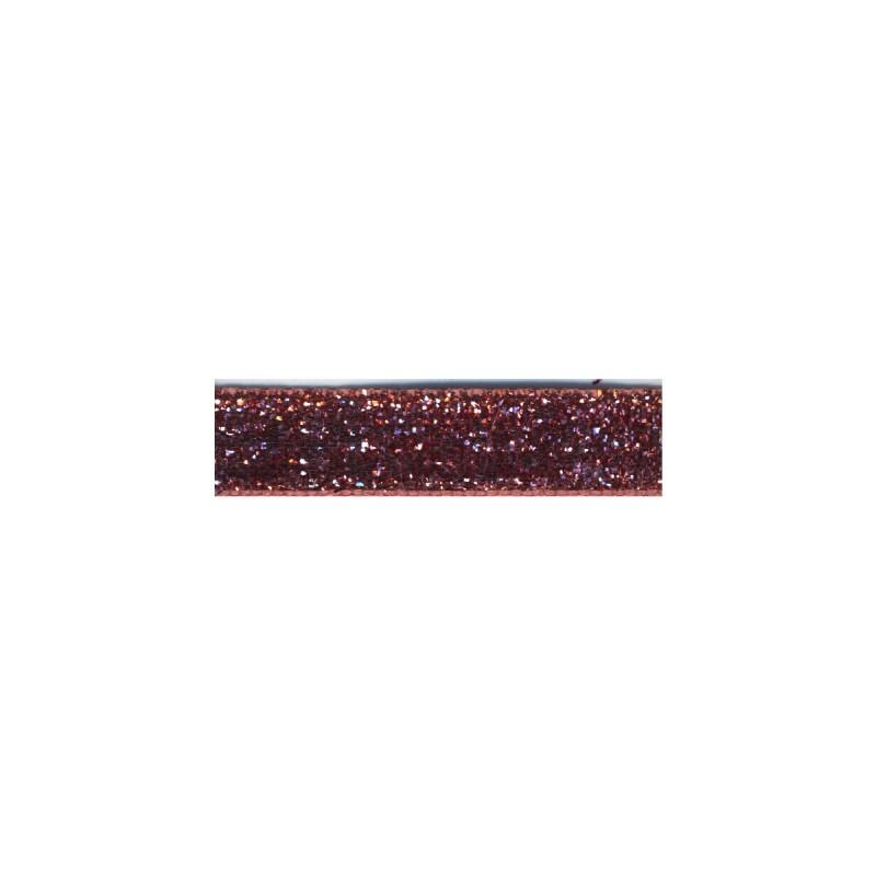 Glitter Lurex Tape Ribbon - Vintage Pink 47 10mm
