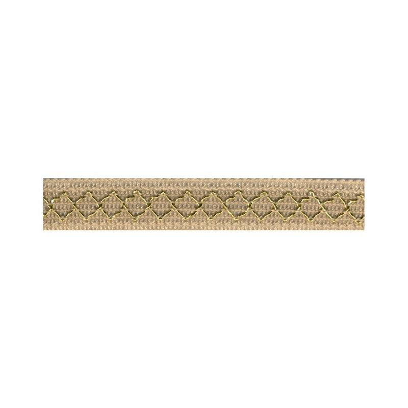 Gold Thread Diamond Trim Ecru 40