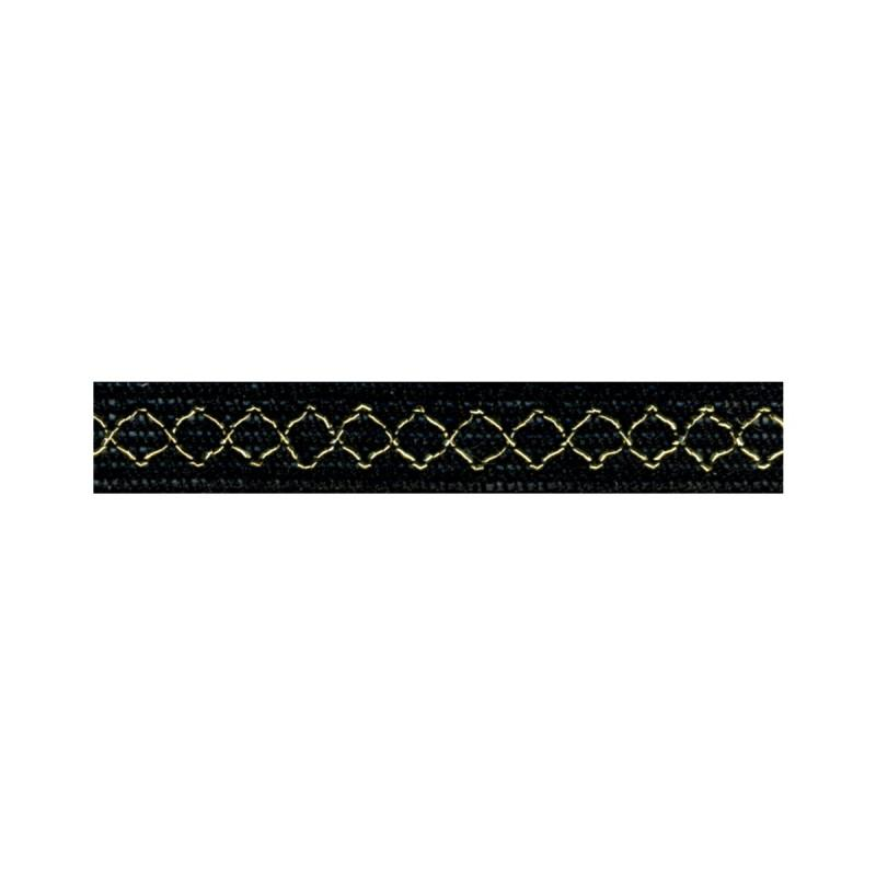 Gold Thread Diamond Trim 14 black