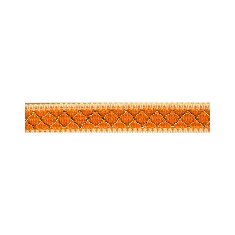 Gold Thread Diamond Trim Orange 83
