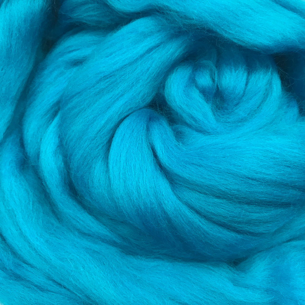 100g Greek Blue Merino wool tops for felting & giant knitting
