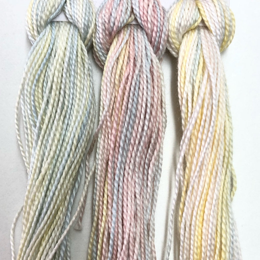 Hand Dyed Perle 8 threads x 3 Birch