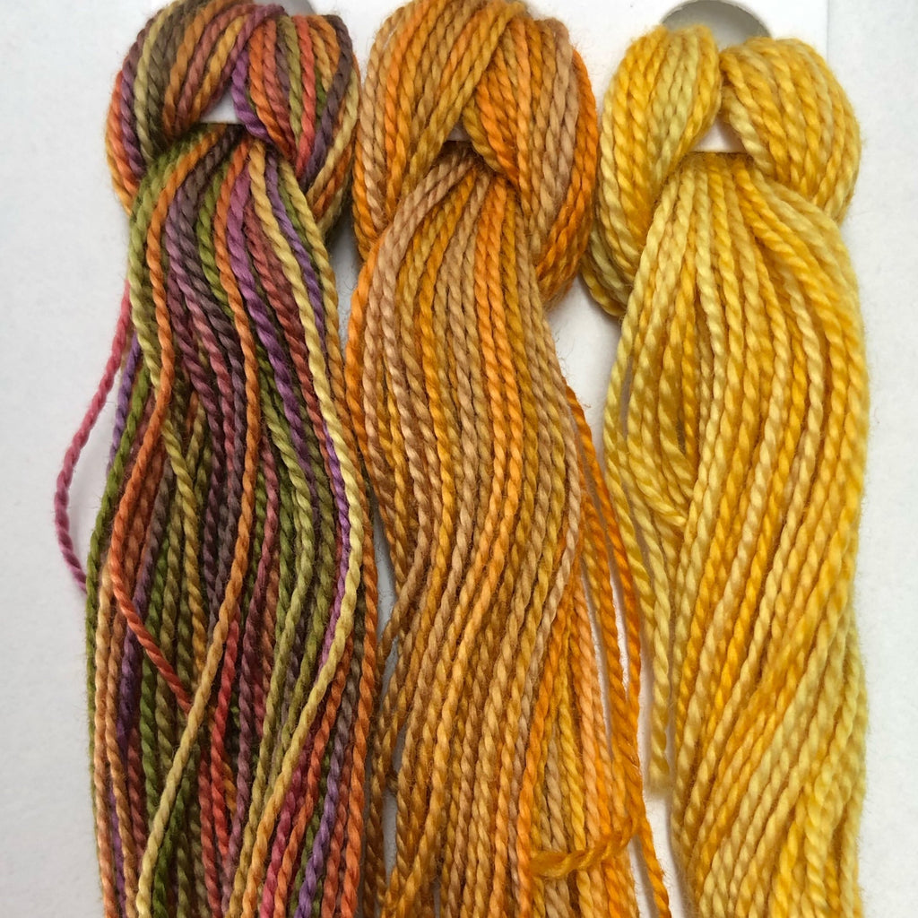 Hand Dyed Perle 8 threads x 3 Brass