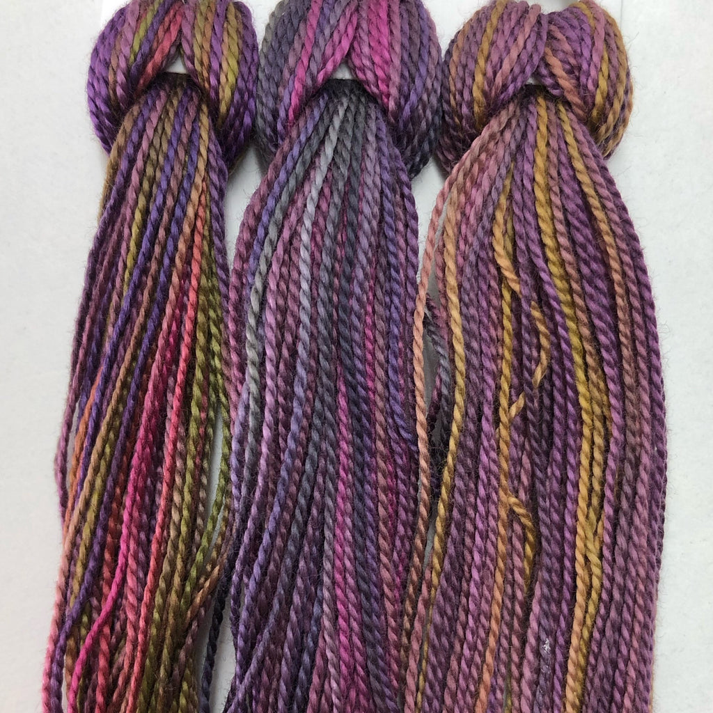 Hand Dyed Perle 8 threads x 3 Hellebore