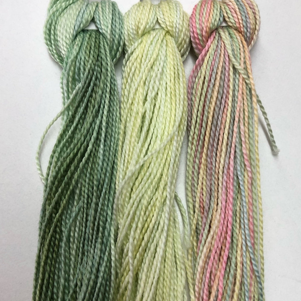 Hand Dyed Perle 8 threads x 3 Honeysuckle