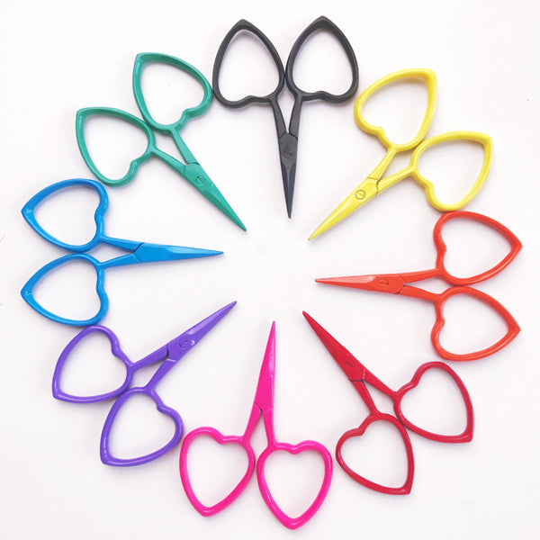 Love Heart Scissors Yellow