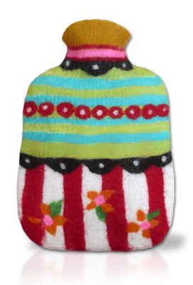 COMPLETE Hottie Bottie Hot Water Bottle Cover Felting Kit