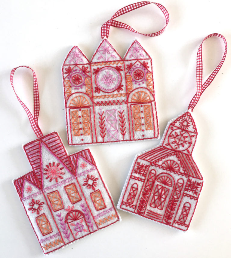 Buildings Embroidery Kit (Felt Decorations)