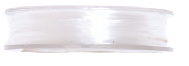 Jewellery / Beading Elastic : 5m x 0.4mm: Clear White