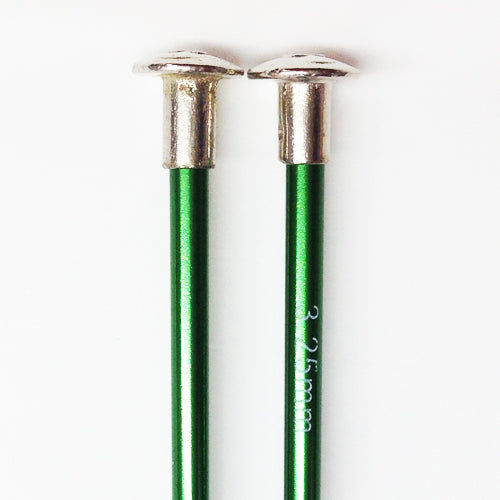 Knitting needles ALUM  3.25mm x 25cm green