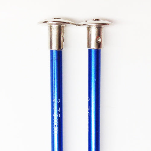 Knitting needles ALUM  3.75mm x 25cm blue