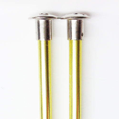 Knitting needles ALUM  5.0mm x 25cm yellow
