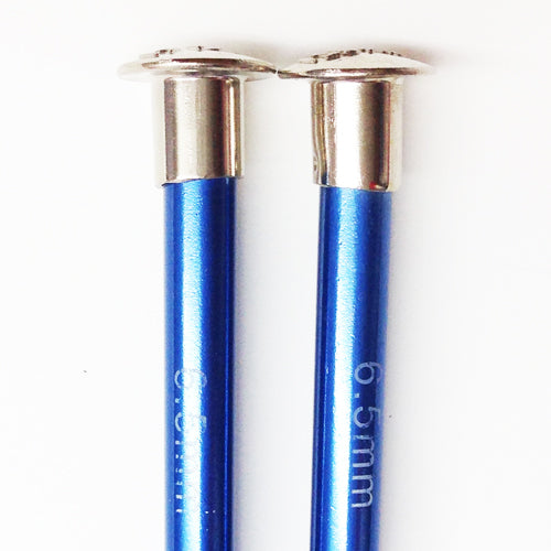 Knitting needles ALUM  6.50mm x 25cm blue