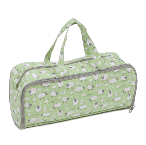 Knitting Bag with Pin Storage Side Pocket: Sheep