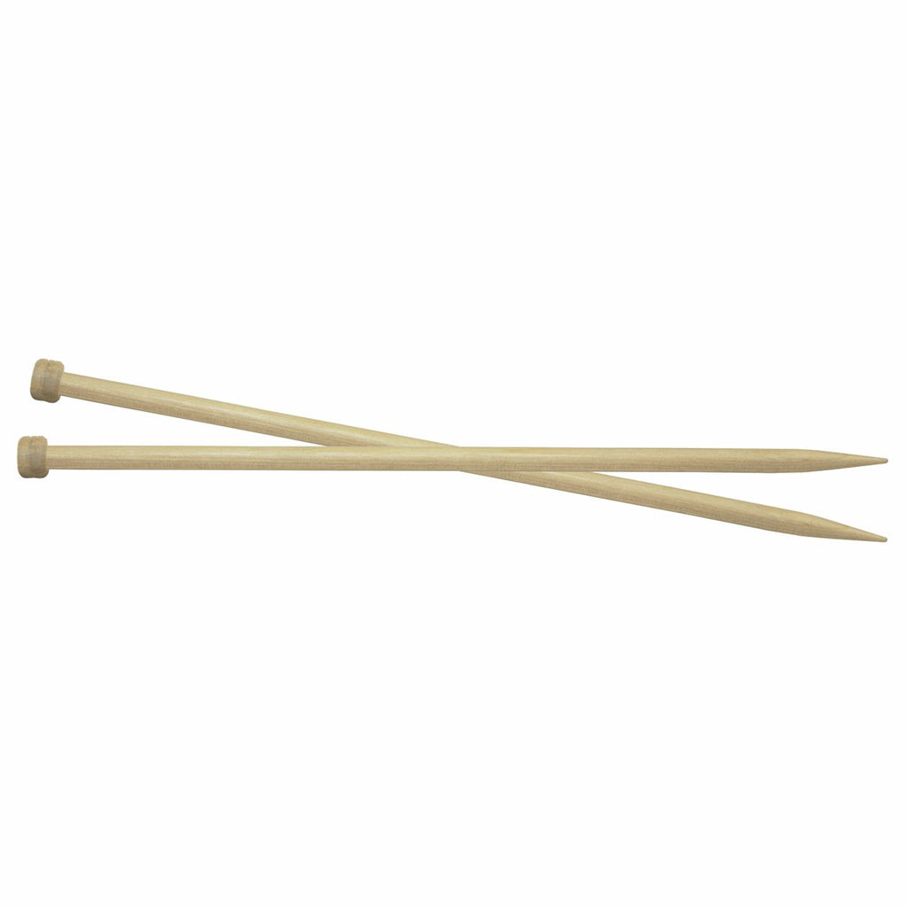 Knit Pro Basix Birch 40cm Single Point Knitting Needles 12mm