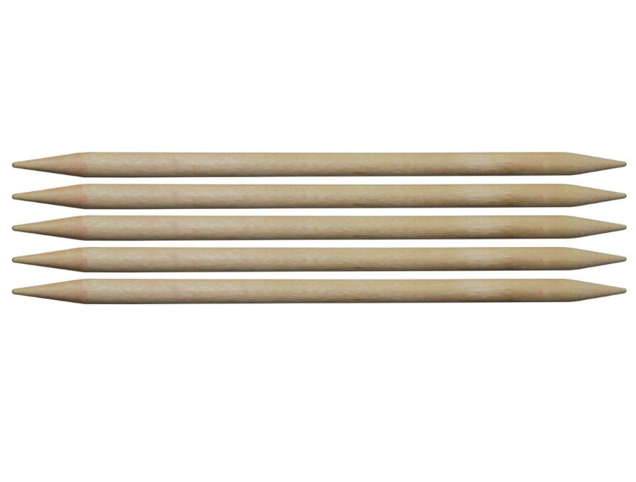 Knitting Pins: Double-Ended: Set of Five: Birch: 20cm x 12mm