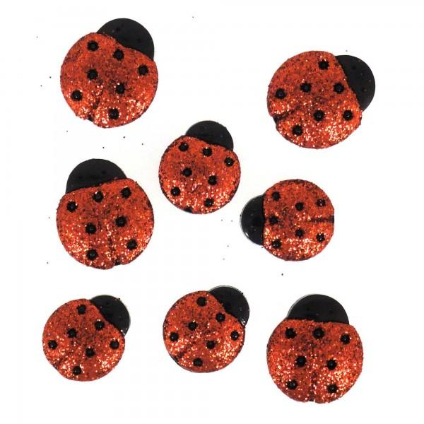 Ladybugs Glitter Dress it Up Button Pack