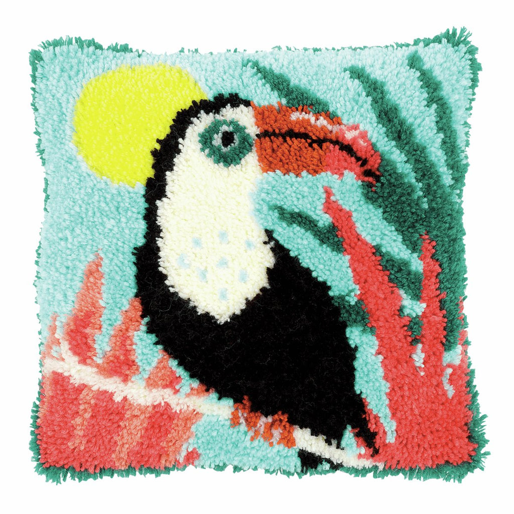 Latch Hook Kit: Cushion: Toucan