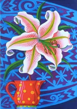 Lily Greetings Card by Jane Tattersfield