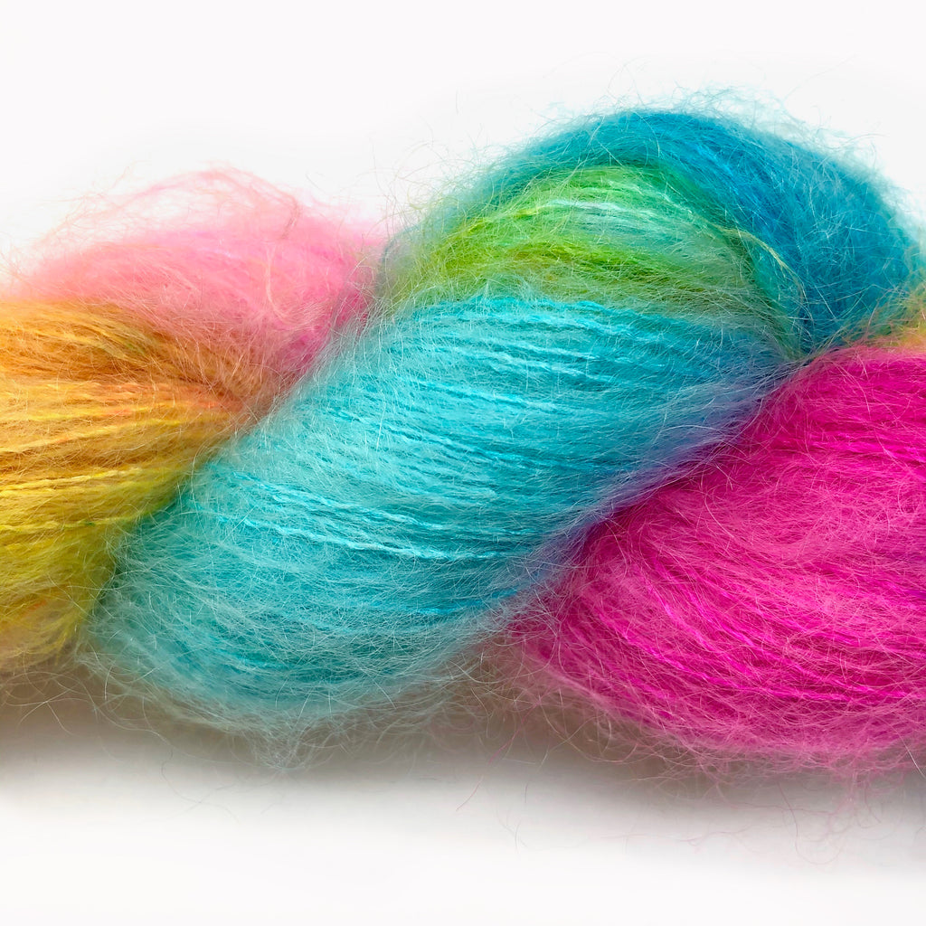 Gilliangladrag Holy Fluff Hand Dyed Kid Silk Lace : 'Little Road to Kerry'