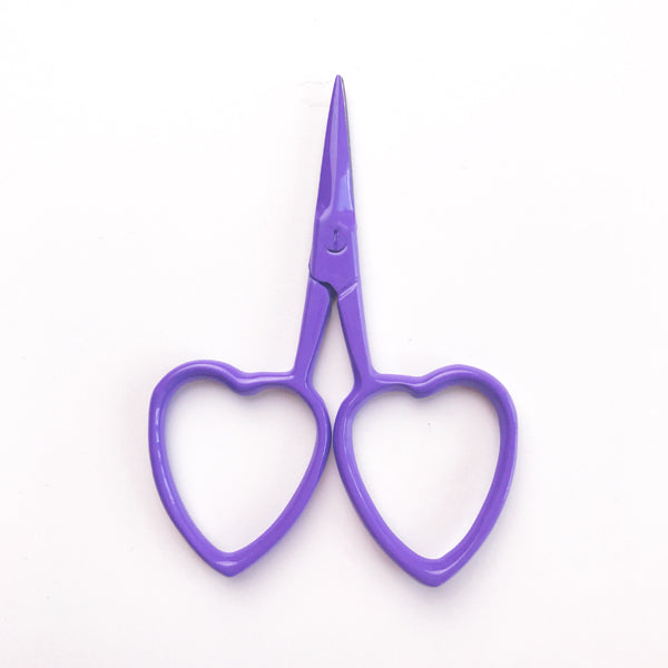 Love Heart Scissors Purple