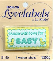 Made with love for baby Lovelabels
