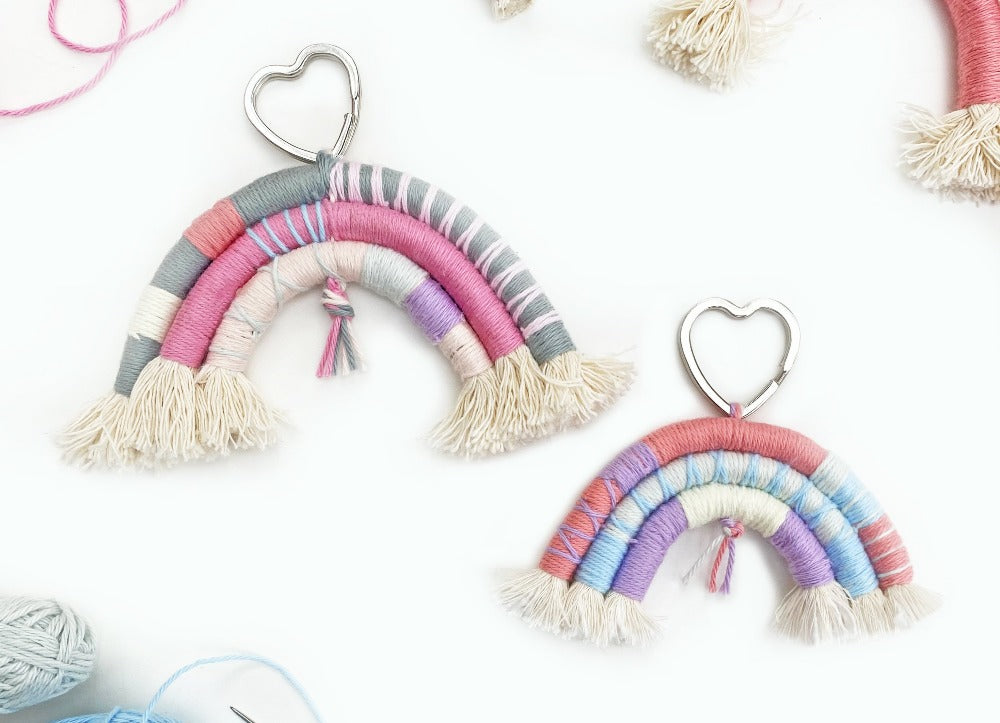 Macrame Rope Pastel Rainbows Kit