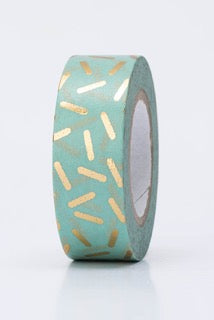 Metallic Washi Gold Straciatella