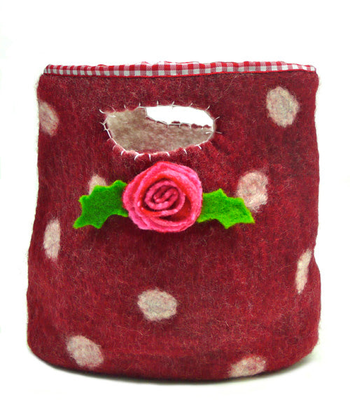Mrs Christmas Day Out Wet Felting Bag Kit