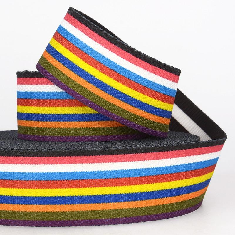 Multi Stripe Webbing Double Faced 06 50mm wide