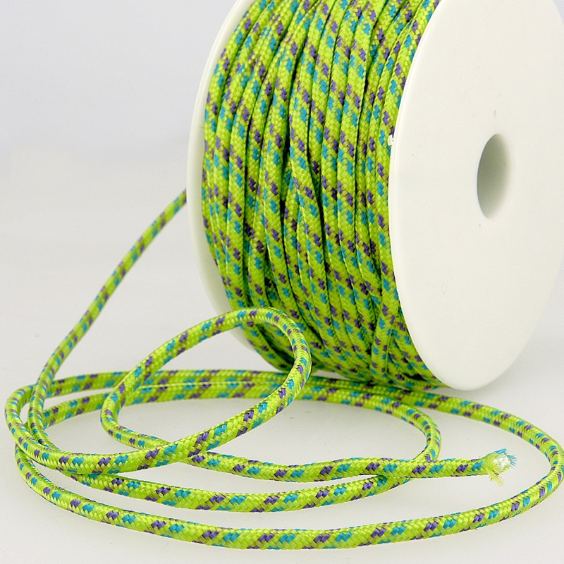 Multicoloured Cord 3mm 16 lime