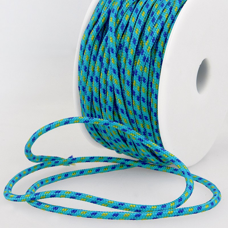 Multicoloured Cord 3mm 20 turquoise