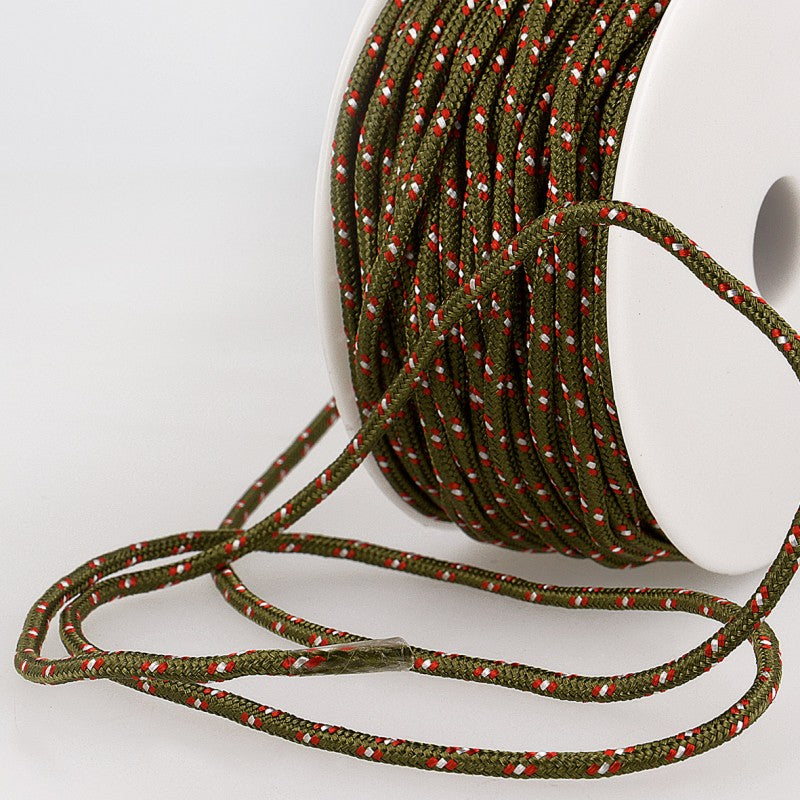 Multicoloured Cord 3mm 53 olive