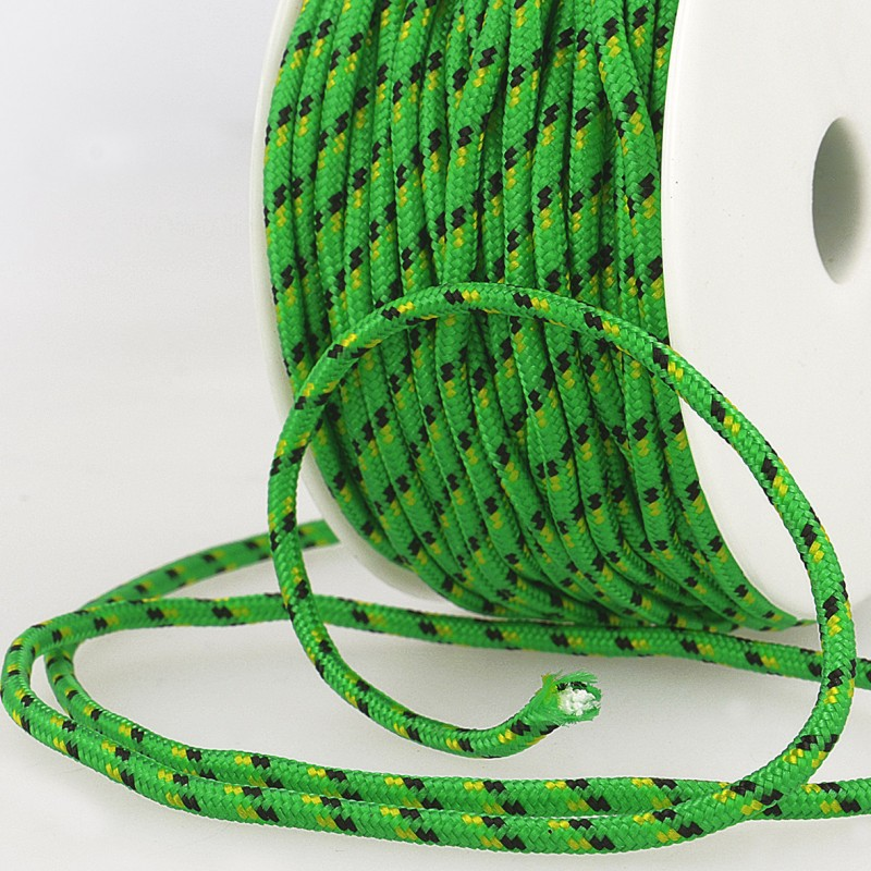 Multicoloured Cord 3mm 64 emerald