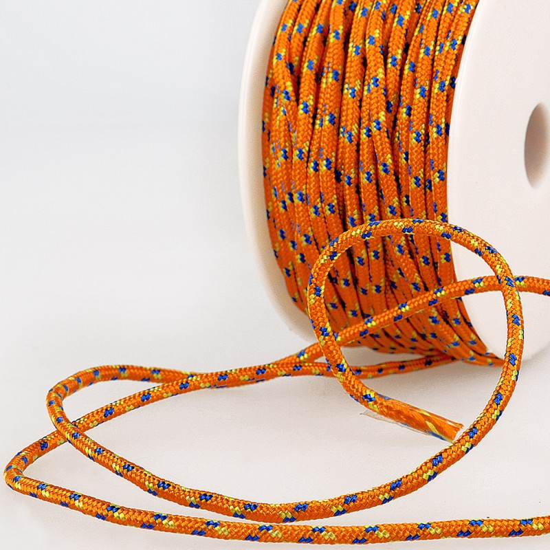 Multicoloured Cord 3mm orange 83